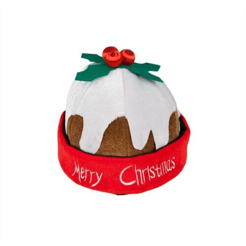 Christmas Pudding Hat Novelty Adults Party Fancy Dress Accessory
