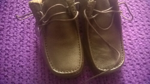 7 intelligentes brun formel boîte travail en Neuf mocassins cuir taille chaussures sans CQEBrxoeWd