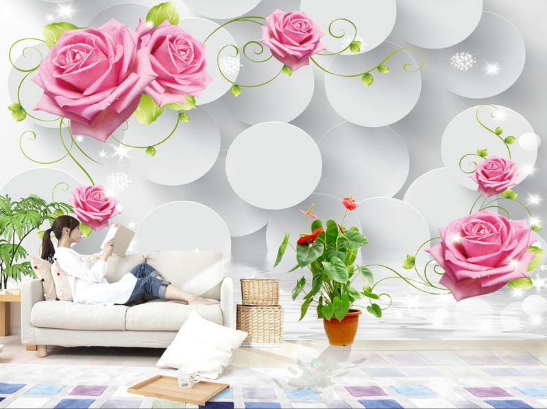 3D Rosan Blaumenkreis 86 Tapete Wandgemälde Tapete Tapeten Bild Familie DE Summer  | Deutschland München  | Exzellente Verarbeitung  | Hat einen langen Ruf