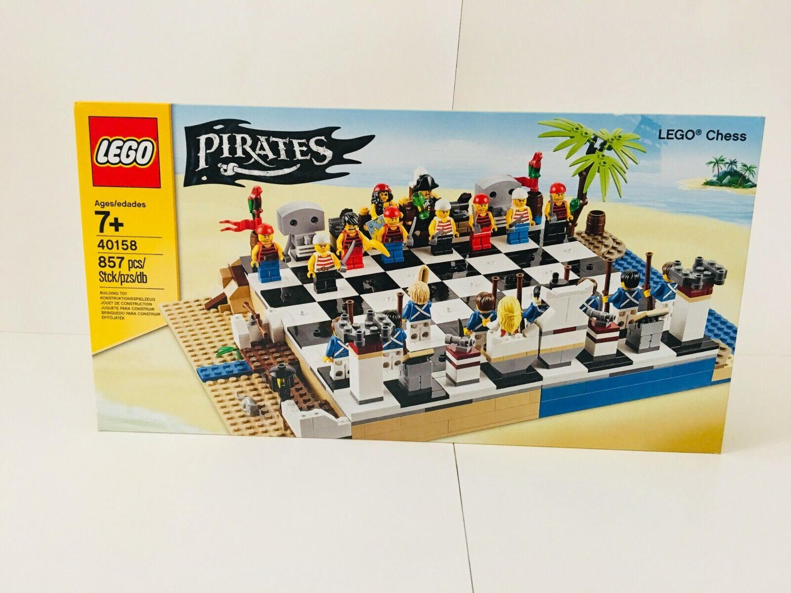 nuovo Lego Pirates vs  blu Coats Chess Set 40158 re regina Knight Rook Pawn tavola  negozio fa acquisti e vendite
