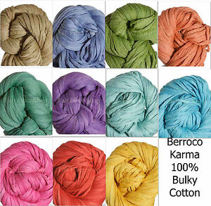 Berroco-Karma-Bulky-100-Cotton-Mesh-Tape-Yarn-Arm-Loom-Knit-Crochet-FS-Offer