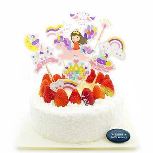 1set-mignonne-fille-Licorne-cupcakes-enfants-fete-anniversaire-decoration-gateau