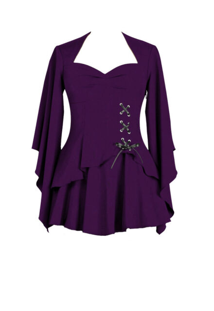 4fdd14b6d4d836 Chic Star Gothic Layered Corset Detailed Long Sleeved Top UK Sizes 6 ...