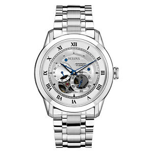Bulova-BVA-Men-039-s-96A118-Automatic-Open-Heart-Window-Silver-Tone-42mm-Watch