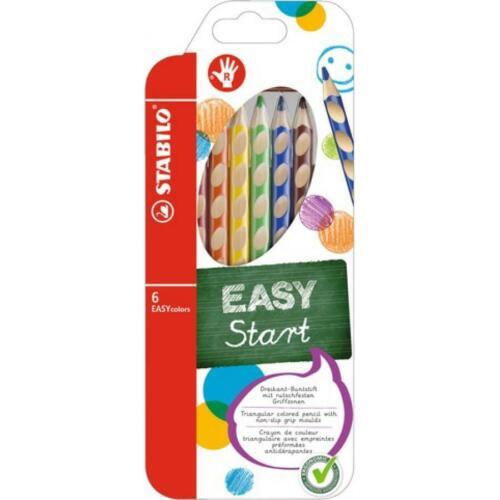 Farbstifte 6er Etui für Rechtshänder STABILO Buntstifte Malstifte EASYcolors