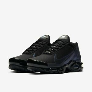 Détails sur Homme Nike Air Max Plus TN Just Do It Noir Baskets CJ9697 001 UK 9 EU 44 afficher le titre d'origine