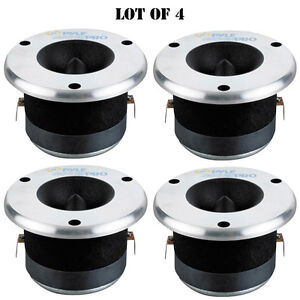 "Lot of 350 Watts RMS//700 Watts Peak 8 Pyle PDBT78 2/"" Titanium Super Tweeters"