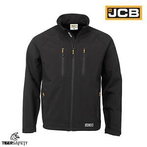 JCB-Trade-II-Black-Lightweight-Soft-Shell-Breathable-Waterproof-Jacket-Coat-Top