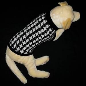 Houndstooth-Dog-Jumper-Sweater-Jacket-Coat-Back-Lengths-25-30-35-amp-40cm