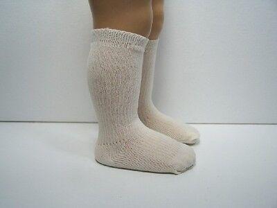 CREAM Rib Knee Socks For Chatty Cathy (Debs)