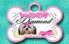 Personalized Custom Pet Tag TWO-SIDED Dog Bone  Dog Tag Choose Breed/Size/Color