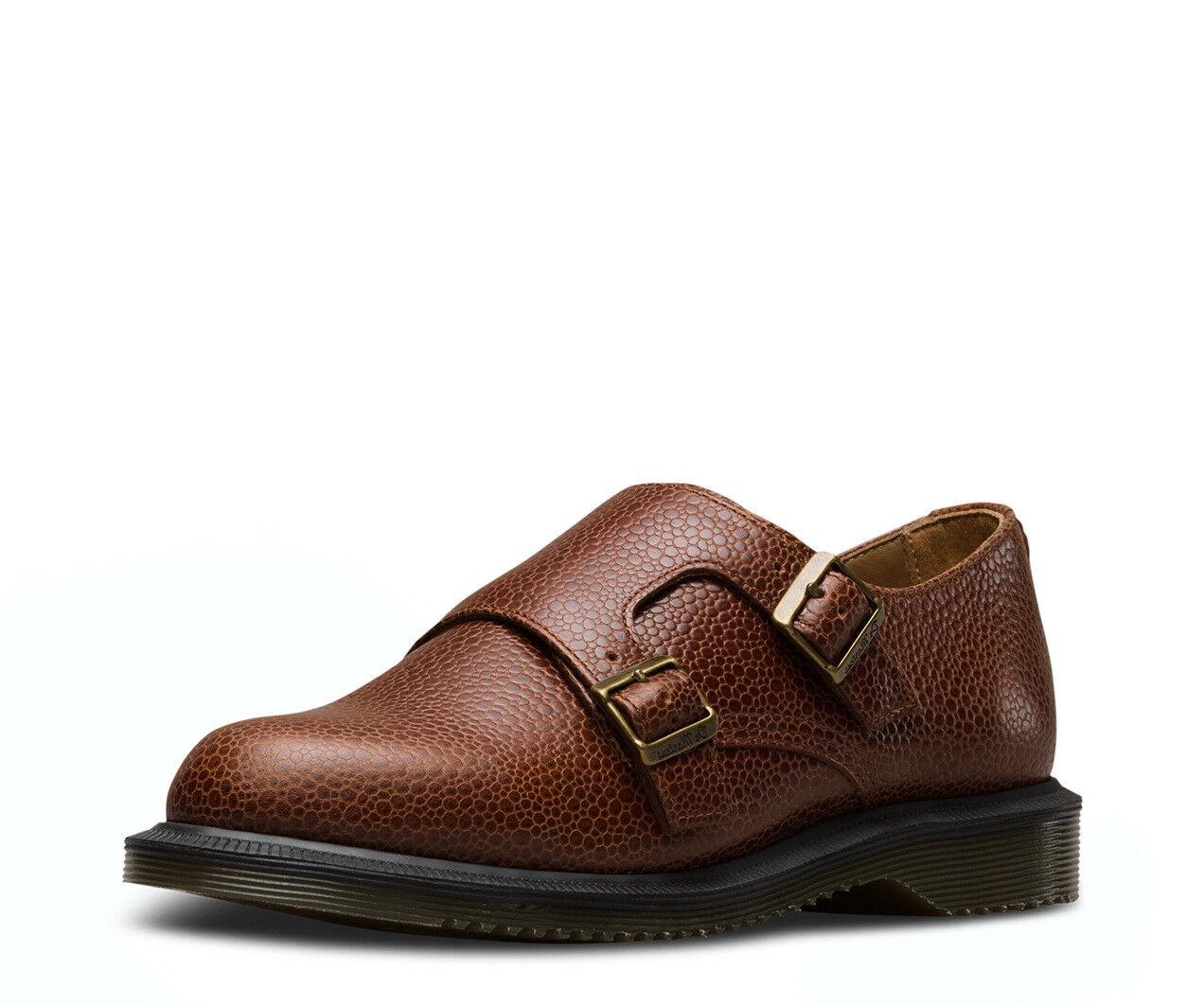 Dr. Martens Pandora Monk Double Strap Chestnut Brown Leather shoes 7 Womens