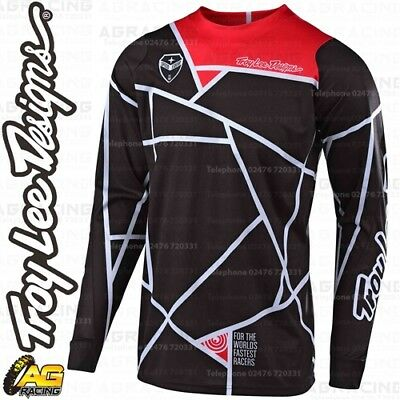 Small, Honey//Red Troy Lee Designs Mens Offroad Motocross Shadow SE Air Jersey
