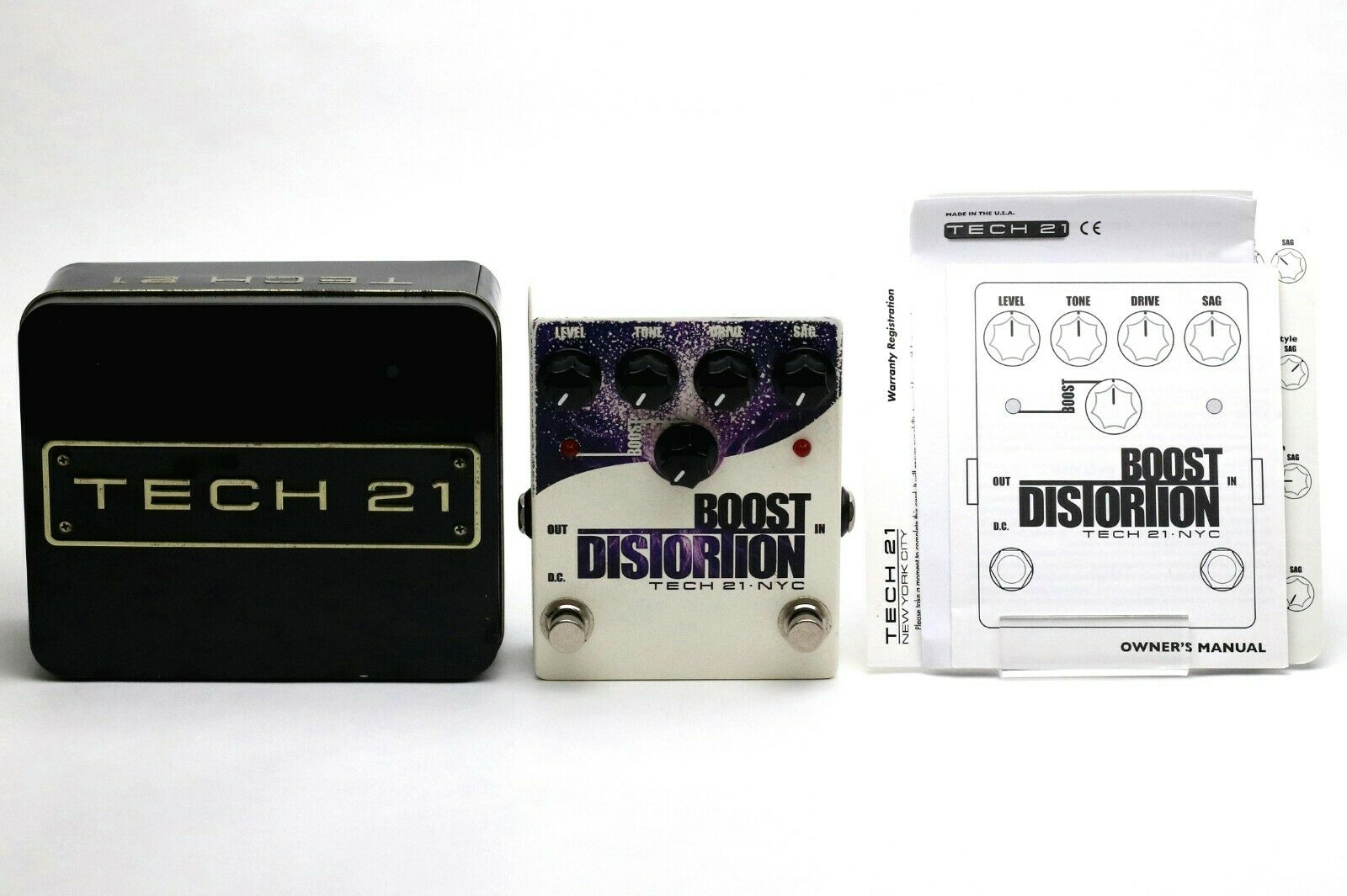TECH 21 NYC BOOST DISTORTION Guitar Effect Pedal Made in USA TECH21