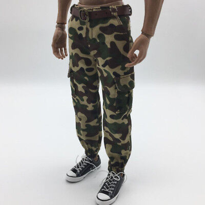 "1//6th Black Pants Camouflage Pocket for 12/"" Male Sideshow DID Action Figure"