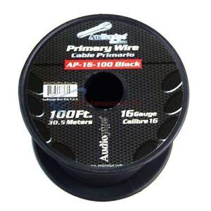 One roll 16 GA 100 feet Black Audiopipe Car Audio Home Primary Remote Wire