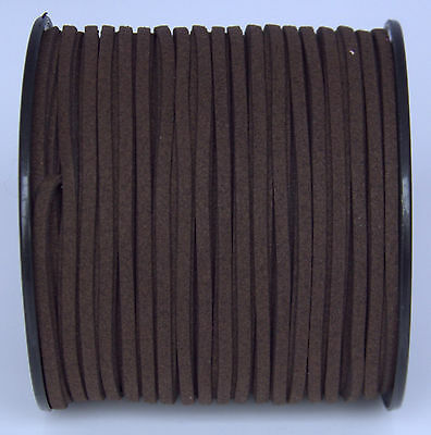 10yds 3mm dark brown Suede Leather String Jewelry Making Thread Cords