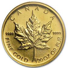 2009 1/20 oz Gold Canadian Maple Leaf Coin - SKU #46351