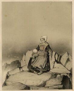Theodore-Valerio-Enfantina-Costume-bourg-de-Batz-Finistere-Lithographie