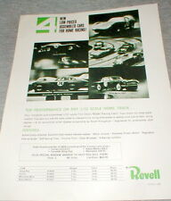 Revell Vintage 1/32 Slot Car Advertising Dealer Flyer Print Slot Cars NOS