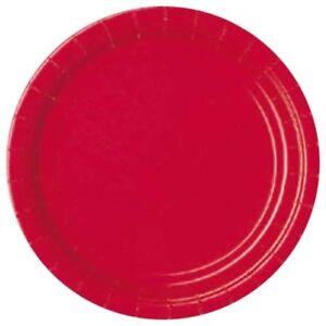 Party Assiettes Rouge, Ca 23 Cm, 8 Rouge Assiettes-jetable Assiette, Apfelrot-afficher Le Titre D'origine