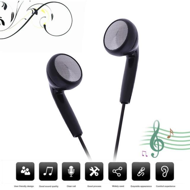 Universal Music Earphone 3.5mm Wired Headphone Headset w/ Mic for iPhone Samsung