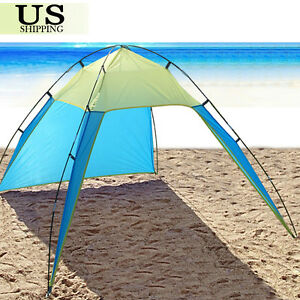 Portable-Beach-Canopy-Sun-Shade-Triangle-Patchwork-Tent-Shelter-Camping-Fishing