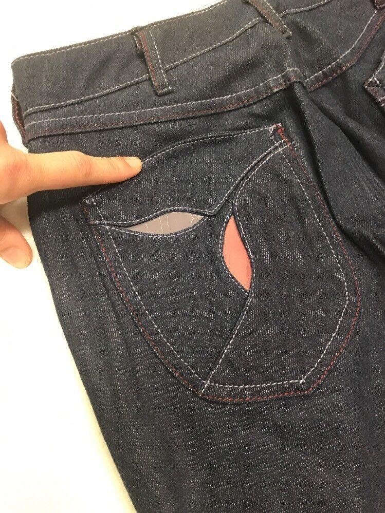 RARE Vintage 70s Jeans Deadstock Wide Leg High Wa… - image 3