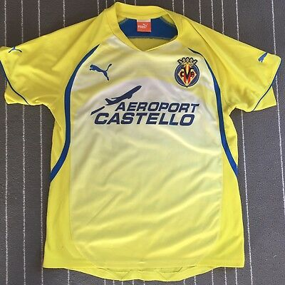 VILLAREAL 2010//11 S//S AWAY SHIRT BY PUMA SIZE MEN/'S MEDIUM BRAND NEW WITH TAGS