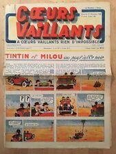 HERGE - TINTIN - COEURS VAILLANTS numéro 46 ( 17 novembre 1940)