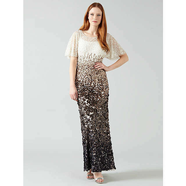 PHASE EIGHT NWOT Contina Sequin Bodycon Maxi Ballgown Evening Dress Größe 12