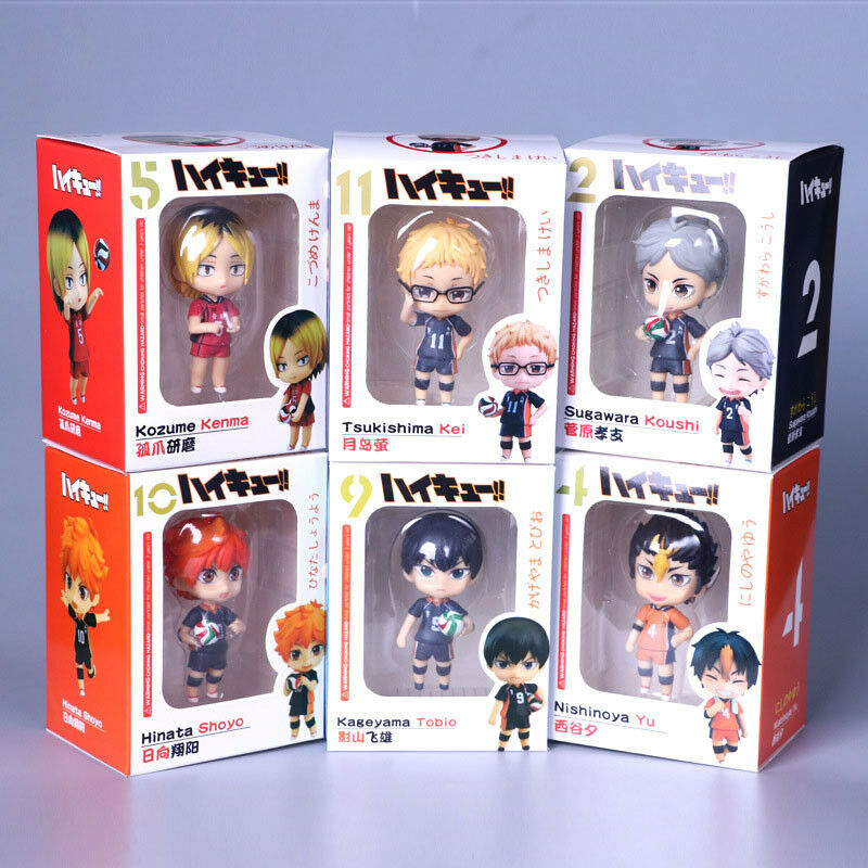Haikyuu set of 6pcs boys PVC figure anime doll doll doll toy Decorate model new a3c8a1