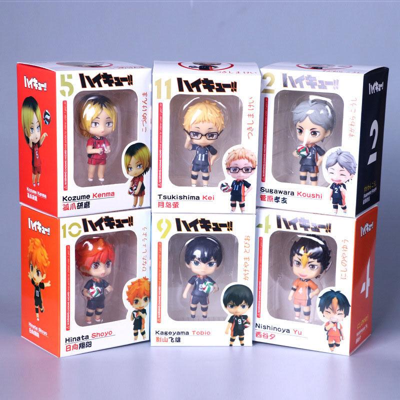 Haikyuu set of 6pcs boys PVC figure anime doll toy Decorate model new
