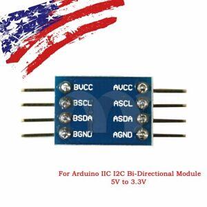 IIC-I2C-Logic-Level-Converter-Bi-Directional-Module-5V-to-3-3V-For-Arduino-US-ST