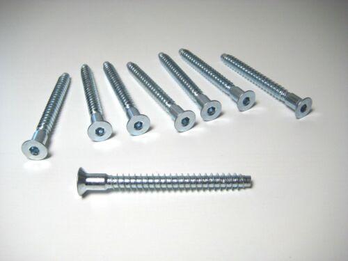 7cm für KALLAX NEU: 8 Stück IKEA Ersatz-Schrauben Möbelschrauben Inbus z.B