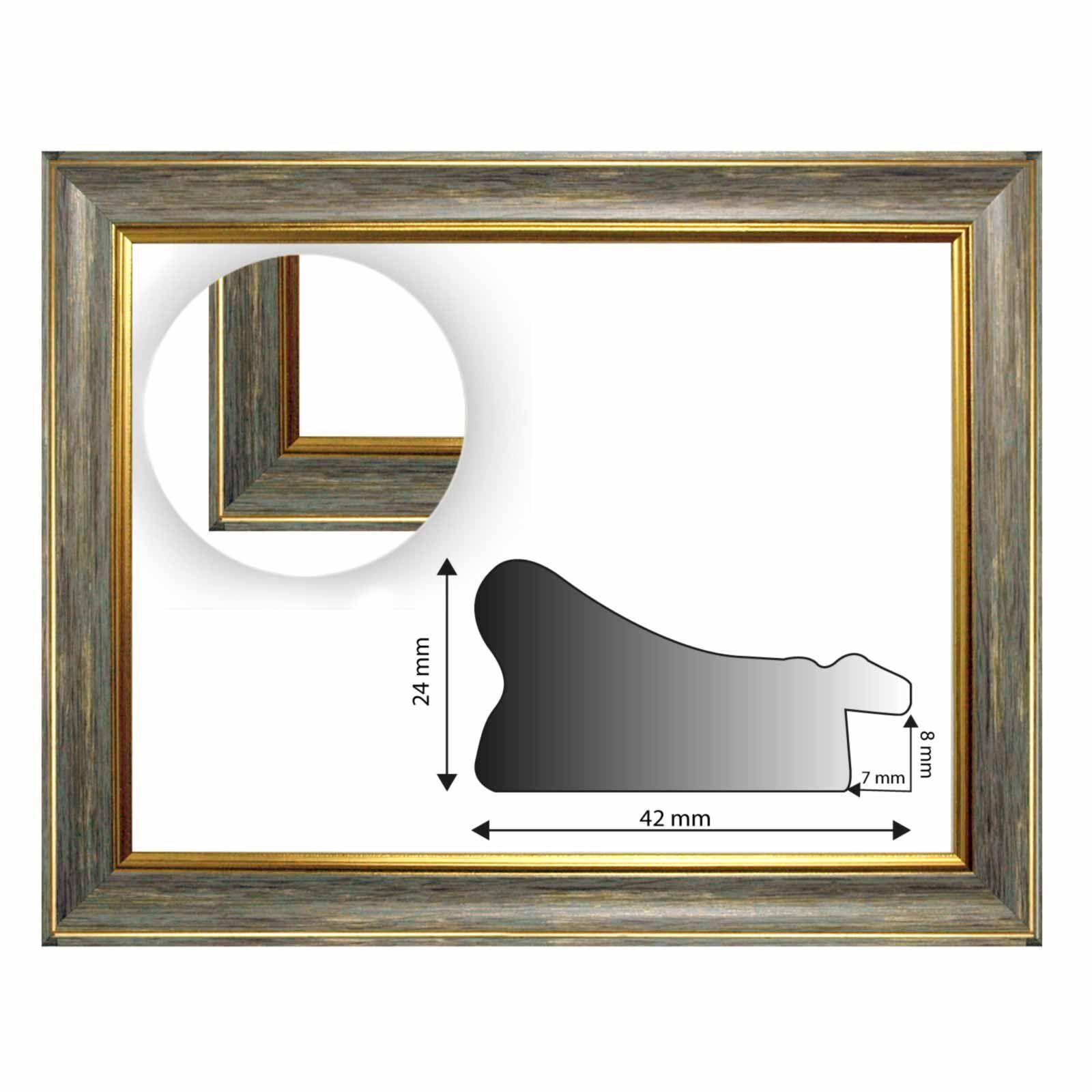 Baroque cadre 10941, 247 avec intérêt de tous gris avec 247 Or kannte, comme Découpe, leerrahHommes , Structure dde939