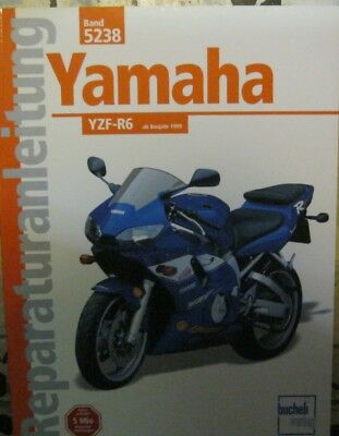 * Yamaha Yzf-r6 Yzf - R6 Ab 1999 Reparaturanleitung SorgfäLtige FäRbeprozesse