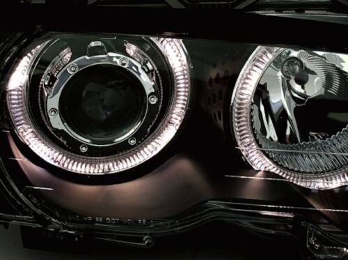 2 PHARE ANGEL EYES BMW SERIE 3 E46 CABRIO 1999-2001 320 323 328 CI NOIR LED