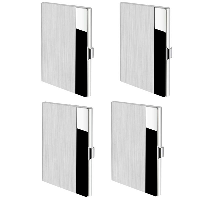1X(Business Card Cases 4 Pack Business Card Holders, Stainless Steel Storag L4Y3