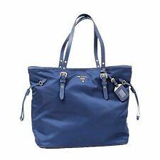 9b7a6bc46f PRADA Tessuto Saffiano Royal Blue Nylon and Leather Trim Shopping Tote  1bg997