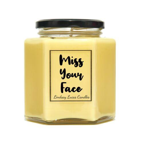 Miss votre visage Bougie Parfumée Cadeau Pour Ami//COPAIN//COPINE
