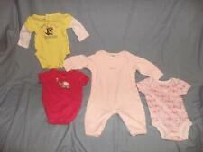 4 NEWBORN BABY GIRL CLOTHING ONE PIECE OUTFITS  BABY GAP CARTER'S FIRST MOMENTS