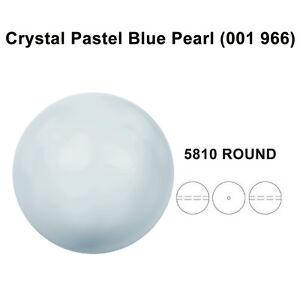 CRYSTAL-PASTEL-BLUE-PEARL-001-966-Genuine-Swarovski-5810-Round-All-Sizes