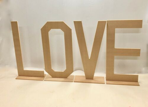 18mm MDF Love Signs for Weddings Details about  /Love Letters Free standing 4ft High Love Sign