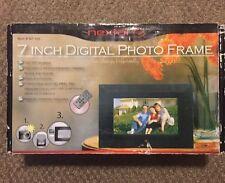 "Nextar Digital 7"" Photo Frame Black Silver Digital Frame N7-110"