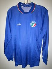 rare ITALY Italia 1986-90 Diadora long sleeve home football shirt World Cup 1990
