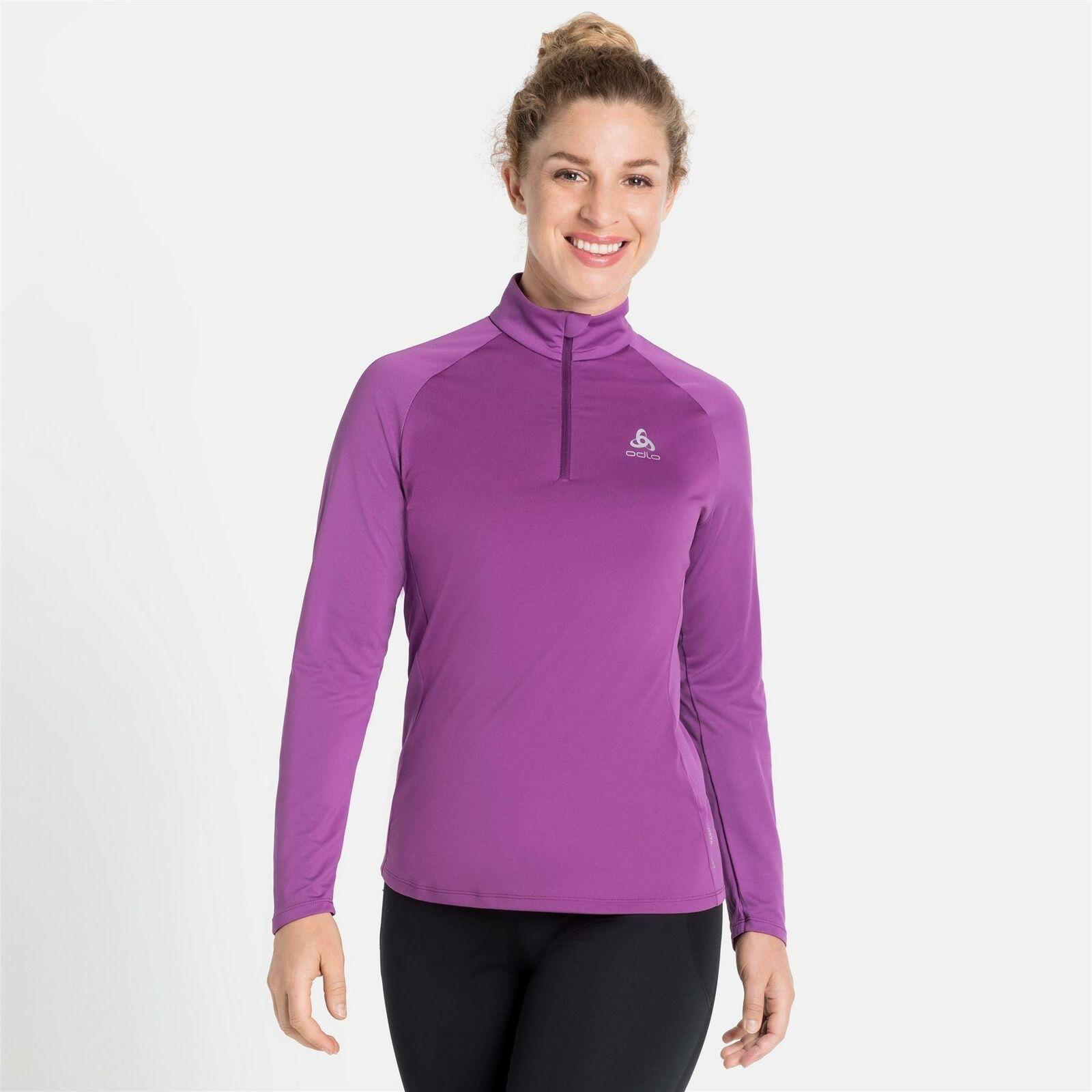Odlo CERAMIWARM ELEMENT Half-Zip Long Sleeve Womens Running Midlayer Top *SALE*