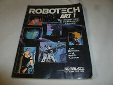 ROBOTECH BOOK ART 1 OFFICIAL GUIDE TO THE UNIVERSE SIGNED BY REBA WEST 1986 AUTO