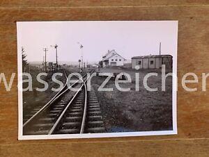 Orig.Foto Kreisbahn Osterode Trennstelle Kalefeld 1957 (497)