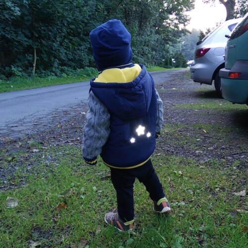 Aufbügler für Kinder reflektierendes Bügelbild Spinne Applikation